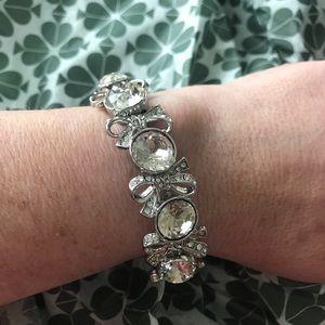 NWT Ann Taylor Rhinestone stretch bracelet.